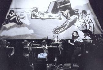 Christa Weber und 8 Musiker